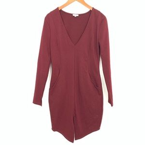 Tobi | Maroon Mini Structured Dress Women's Sz L